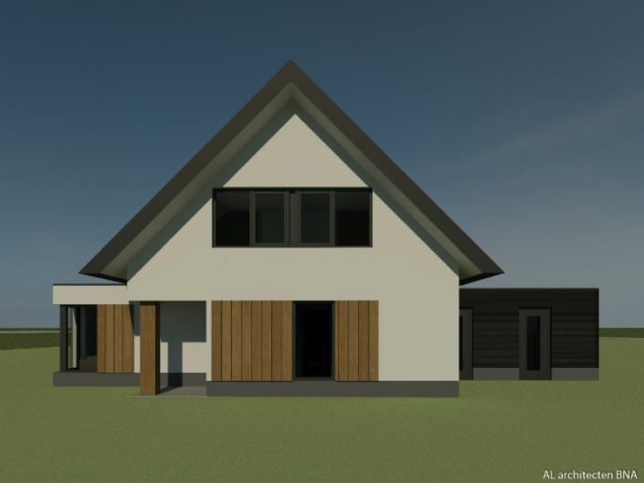 Nieuwbouw eigentijdse landelijke woning in Zwolle