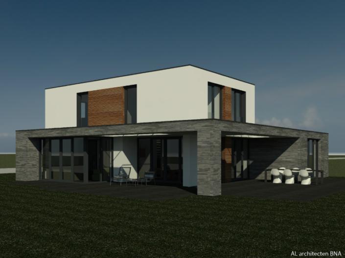 Kubistische vrijstaande villa op de Veluwe