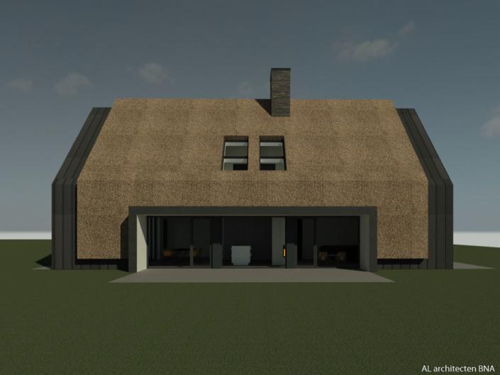 Eigentijdse rietgedekte schuurwoning in Barneveld
