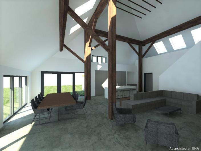 Verbouwing stolpboerderij | Steenwijkerland