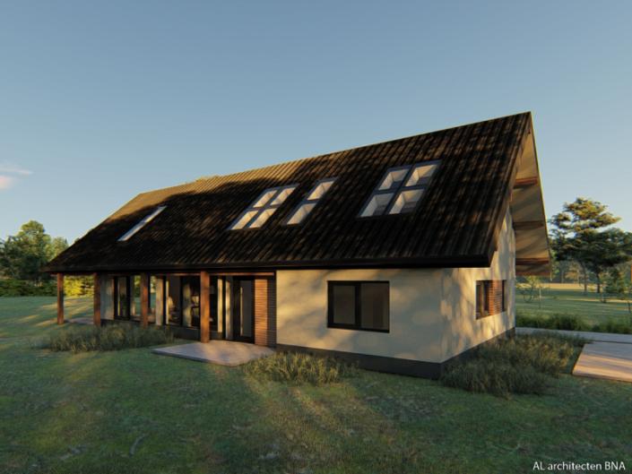 Nieuwbouw stoere landelijke schuurwoning in Nieuwleusen