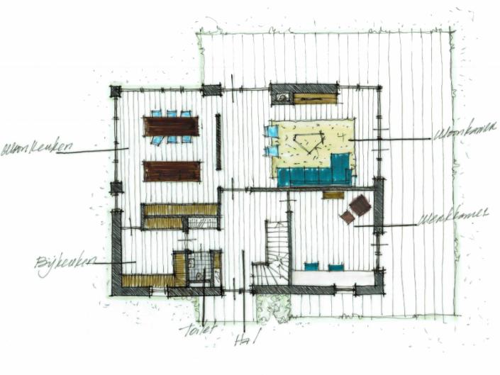 AL architecten | Schetsontwerp nieuwbouw woning