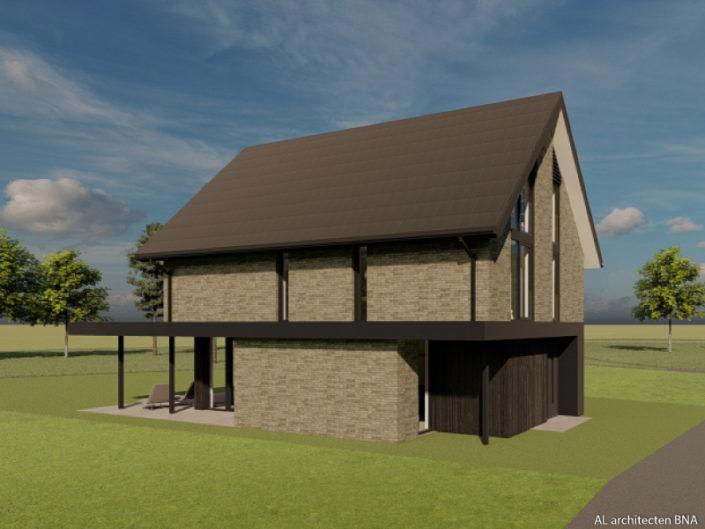 Nieuwbouw van een natuurinclusieve en energieneutrale woning in Breezicht