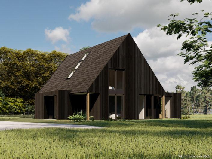 Nieuwbouw van een eigentijdse schuurwoning in Dalfsen