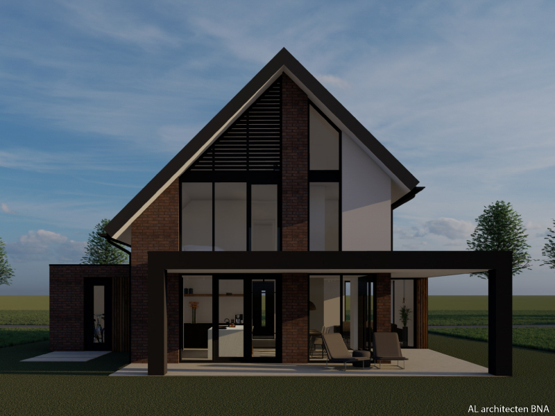 Villa met asymmetrische kap   Hasselt